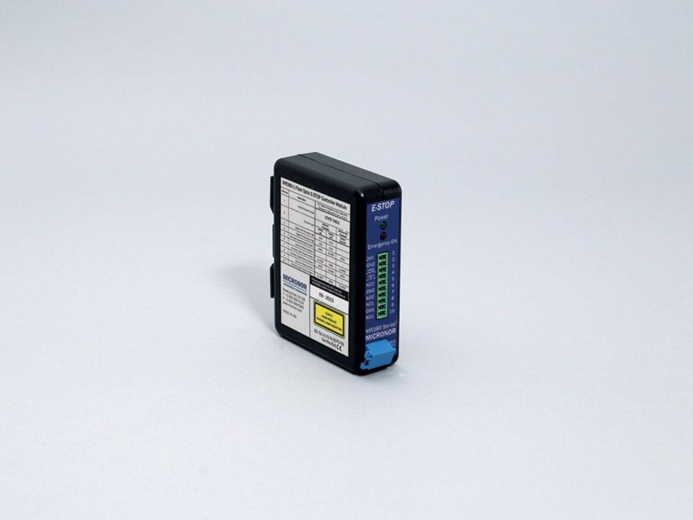 MR380-1 Fiber Optic E-Stop DIN Rail Mount Controller